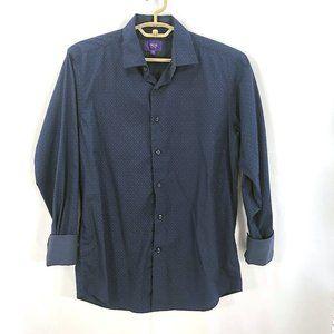Tallia Blue Button down dress shirt MEDUM 15 1/2